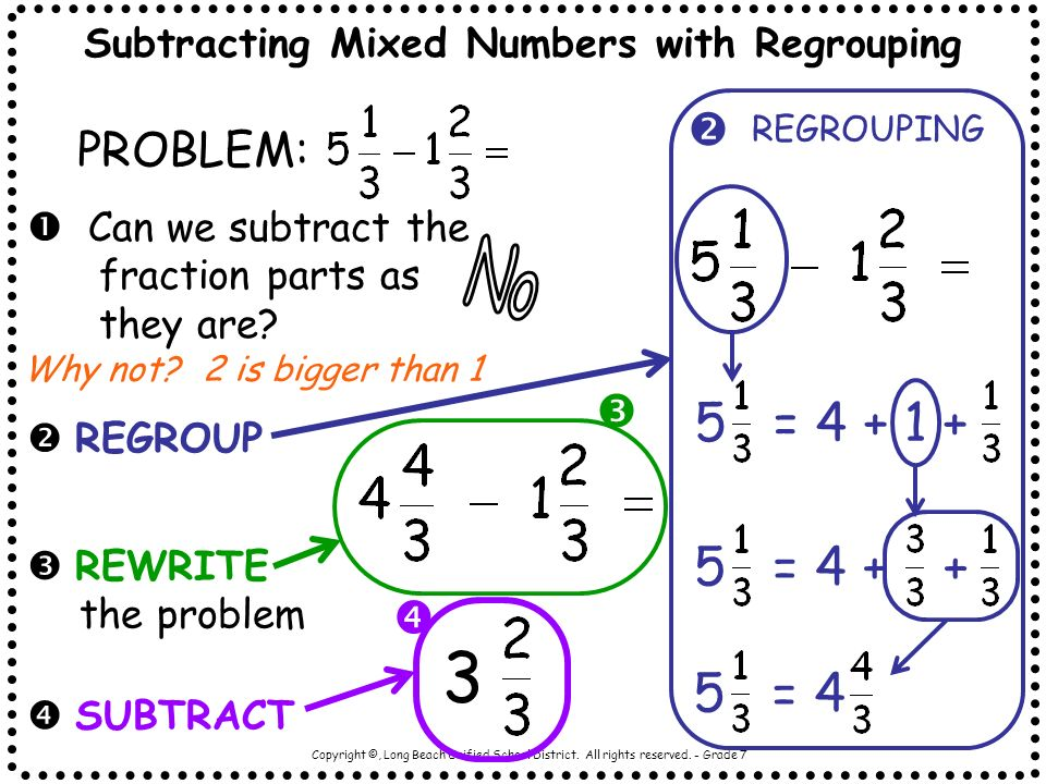 Worksheets An Example Of How To Add Or Subtract Mixed Numbers With Renaming an example of how to add or subtract mixed numbers with renaming subtracting fractions like denominators no the reducing a worksheet