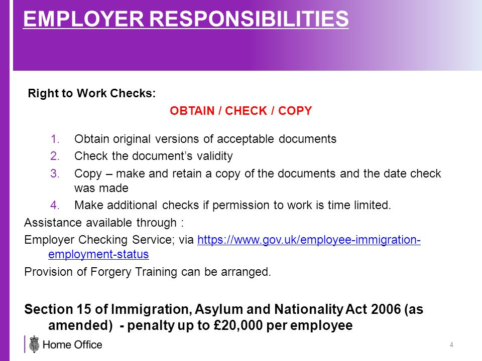 employer rights and responsibilites list