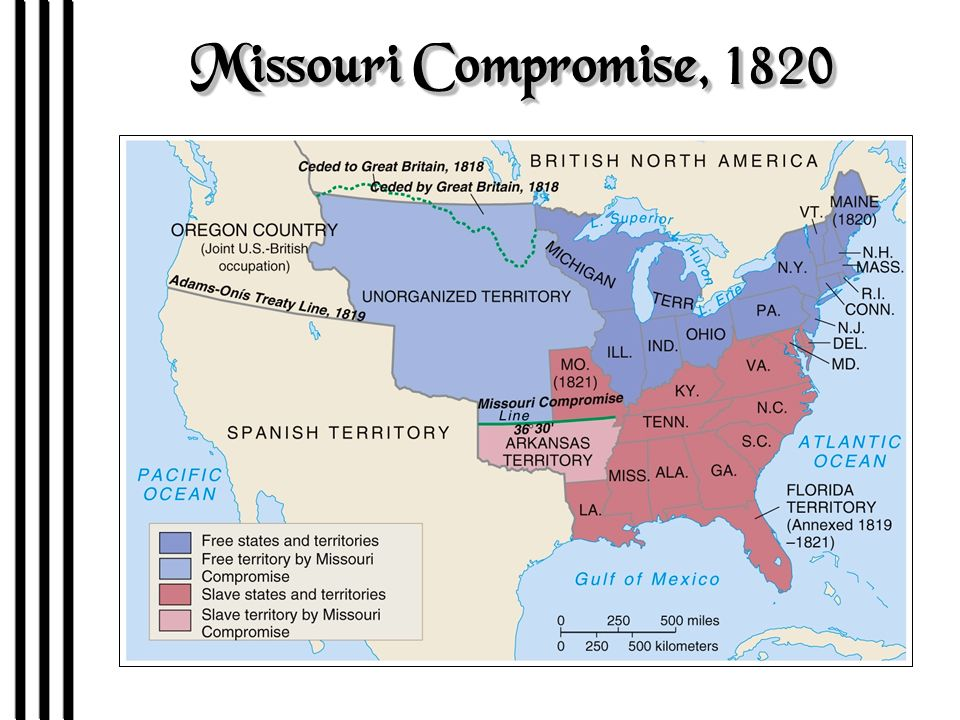 Early Emancipation In The North Missouri Compromise Ppt Download - Missouri compromise interactive map
