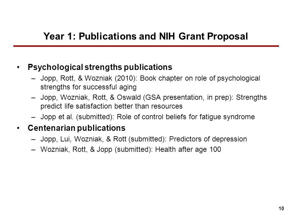 Psychology Grant Proposal?