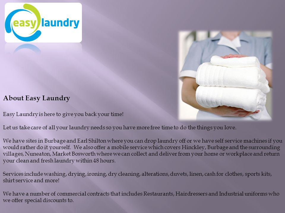 Easy laundry best ironing dry cleaning services hinckley ppt about easy laundry easy laundry is here to give you back your time solutioingenieria Image collections
