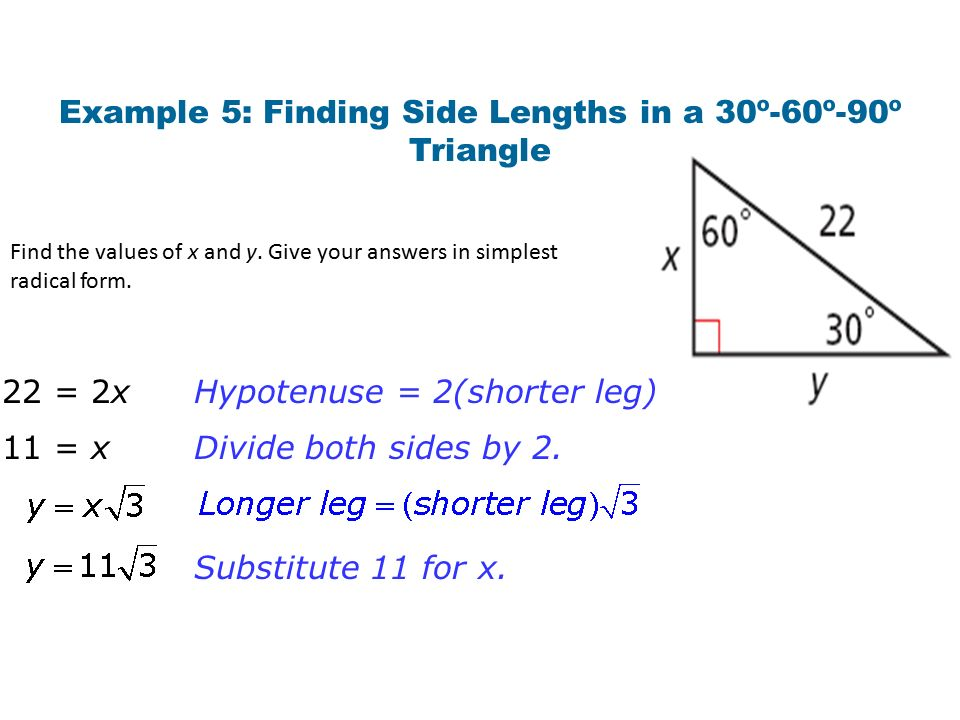 Warm Up For Exercises 1 and 2, find the value of x. Give your ...