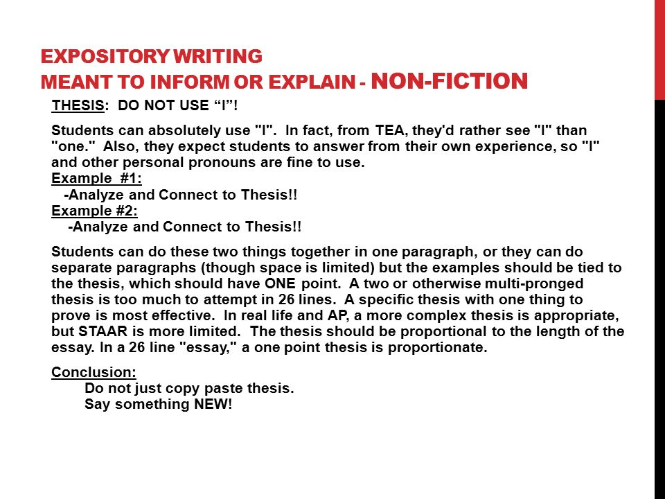 expository writing thesis