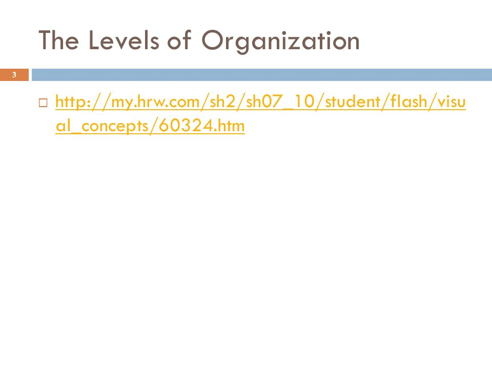 The Levels of Organization 3    al_concepts/60324.htm   al_concepts/60324.htm