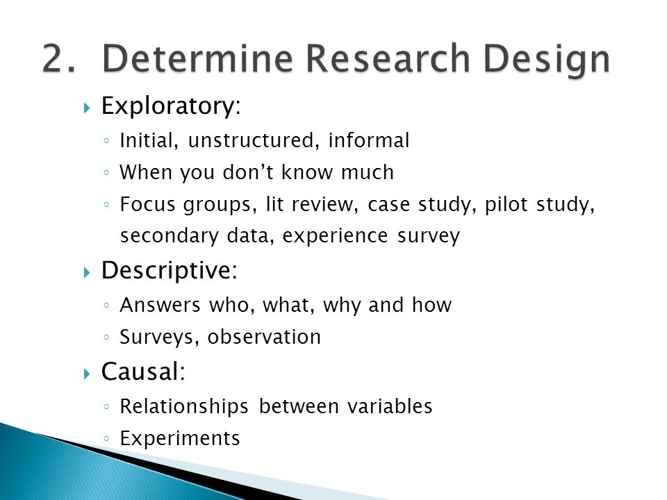 Explanatory research design meaning