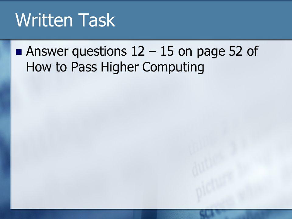 written task type 2