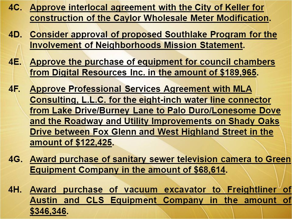 November 6 2012 city council meeting location 1400 main street approve interlocal agreement with the city of keller for construction of the caylor wholesale platinumwayz