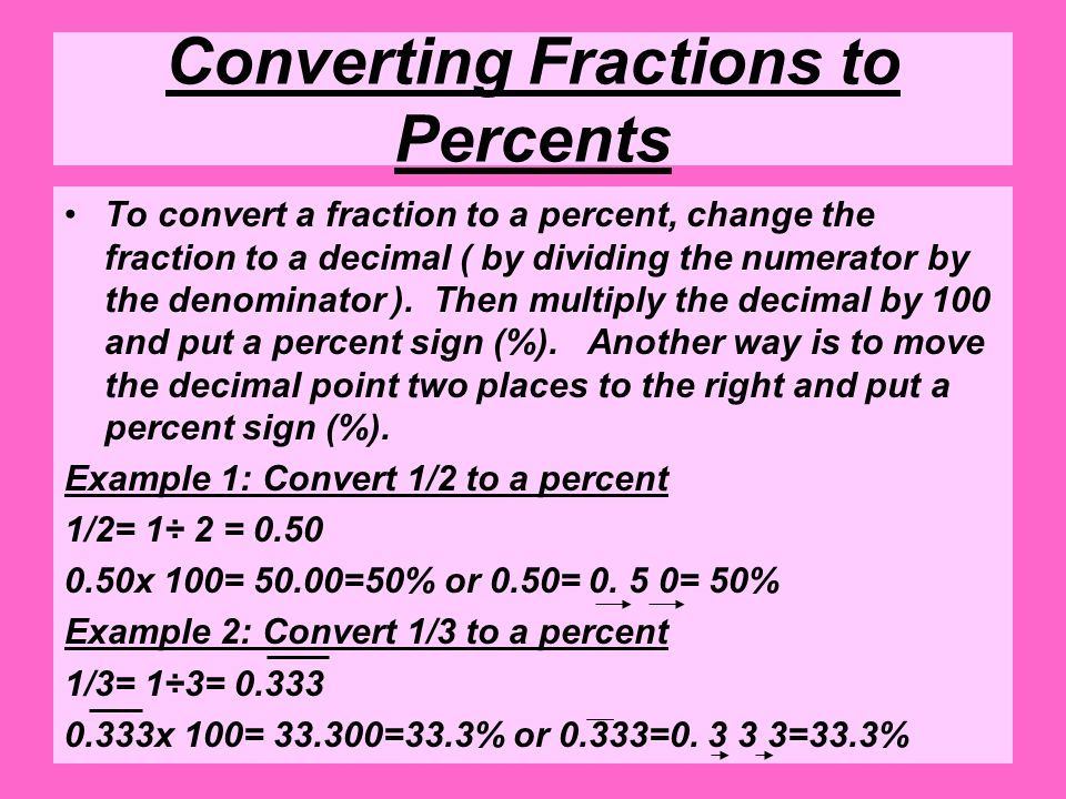 Unit 6 Lesson 3 Percent. Definitions Decimal - Any number shown ...
