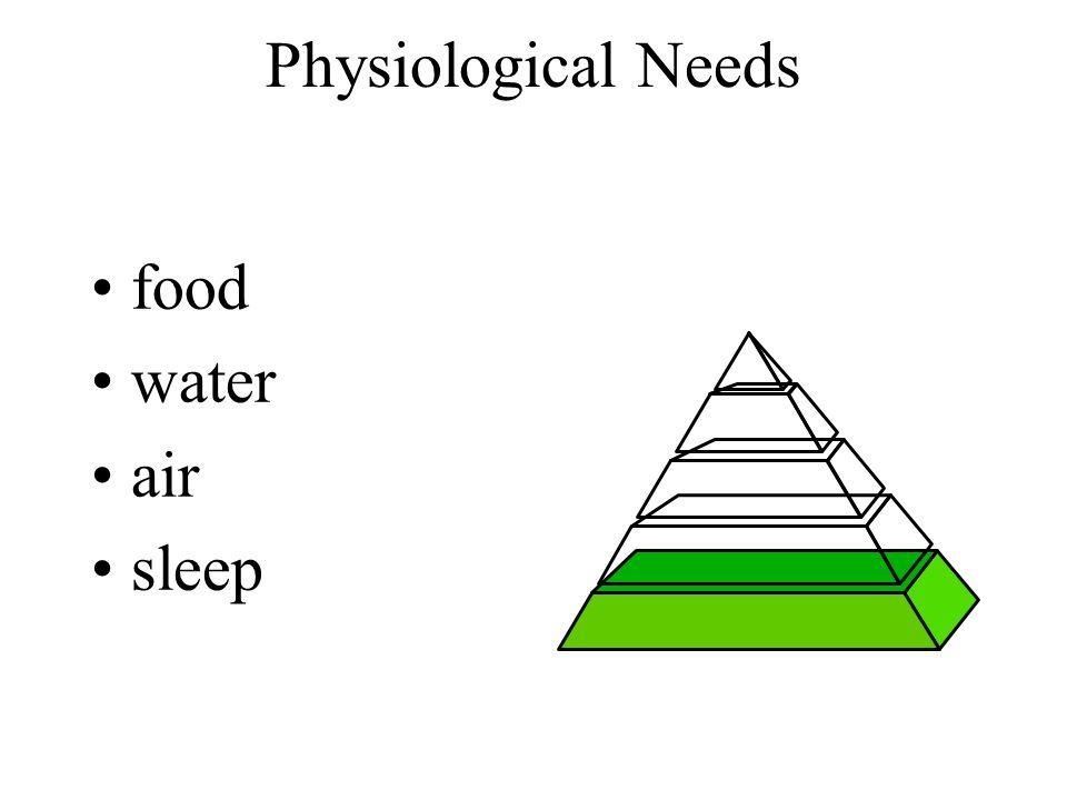 food water air sleep