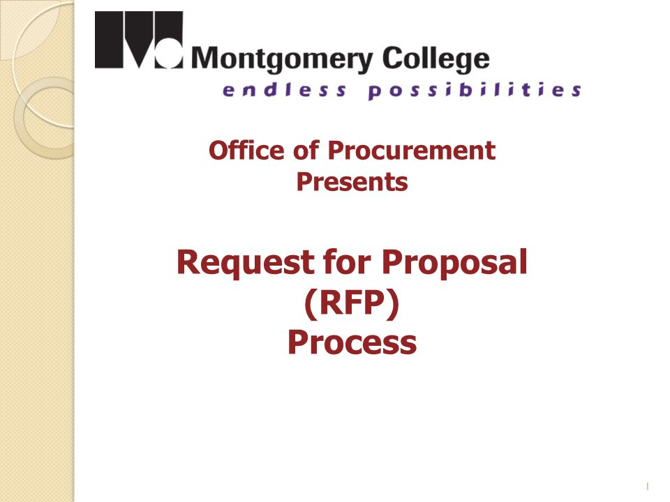 request for proposal process