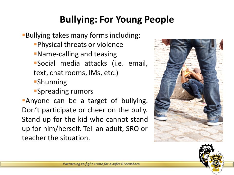 bullying and people Back2school 2017 - from the diana the most important thing is to not take control of the situation, when young people are suffering from bullying they don't.