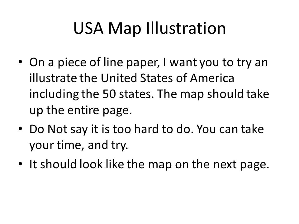 USA Map Side Write NEATLY Each State In The UNITED STATES - Us map color in