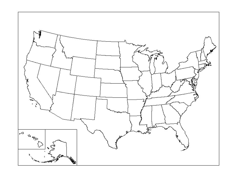 USA Map Side Write NEATLY Each State In The UNITED STATES - Us map that can be colored