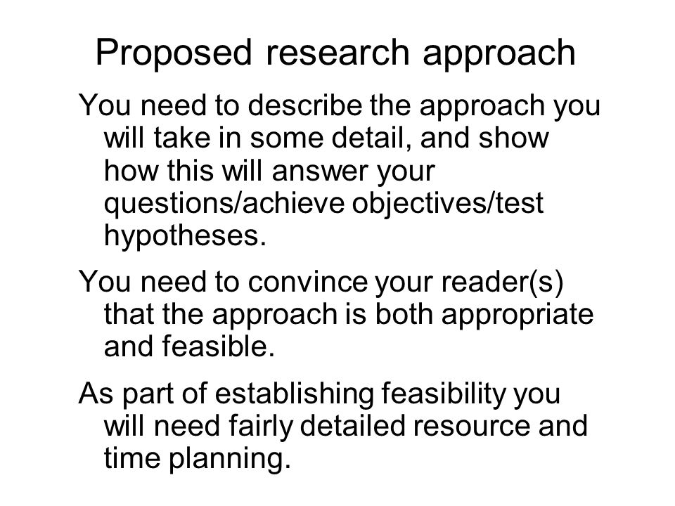 ideas for a research proposal How to write a proposal ideas that seem of limited applicability aren't as likely to spark enthusiasm in readers as ideas research your proposal.