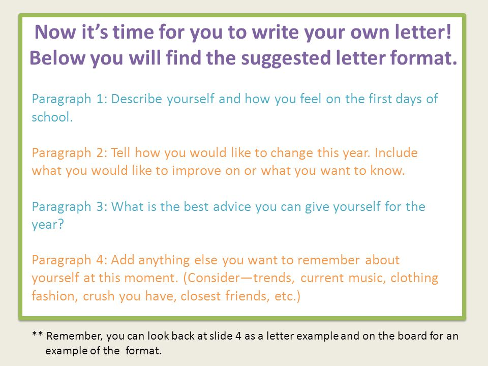 Welcome to sixth grade objectives to set goals for the year now its time for you to write your own letter below you will find the spiritdancerdesigns Image collections