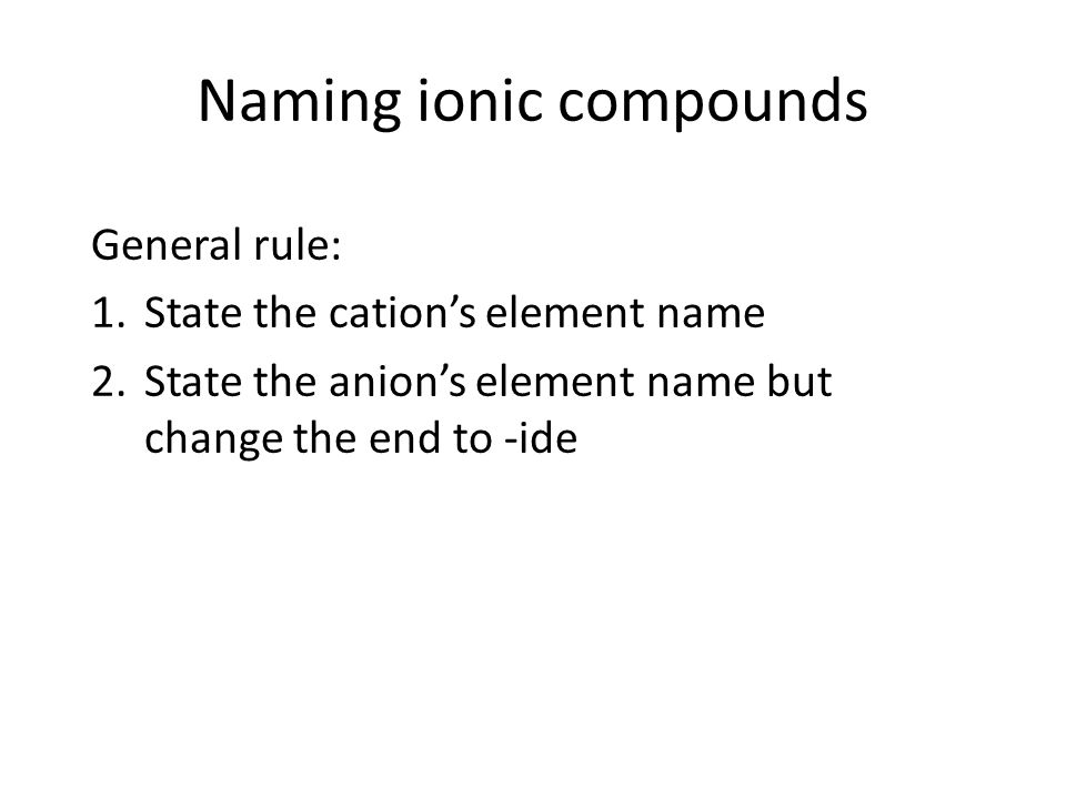 Ionic and covalent compound nomenclature Naming ionic compounds – Naming Chemical Compounds Worksheet