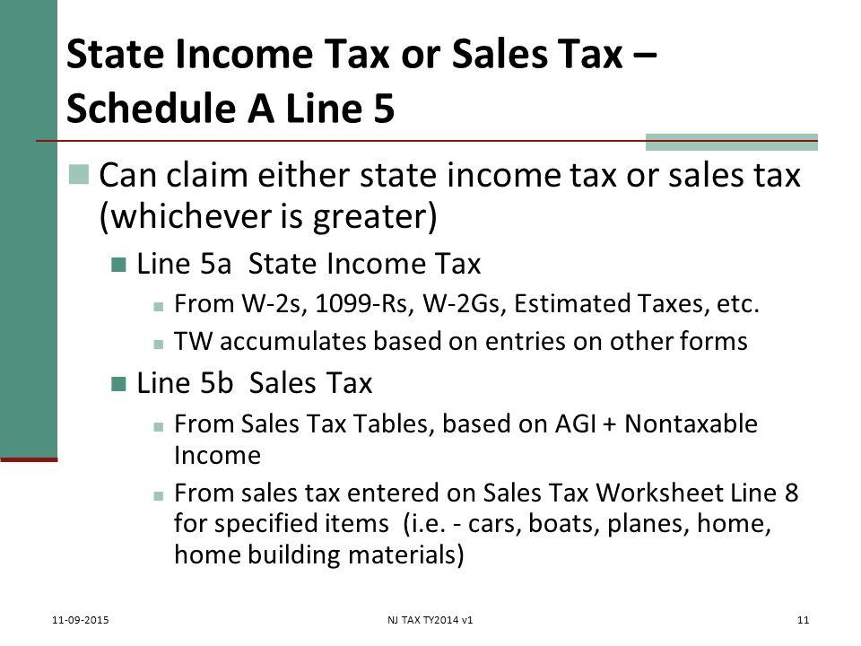 Itemized Deductions NJ Property Tax Deduction Credit Pub 4012 – Sales Tax Worksheet