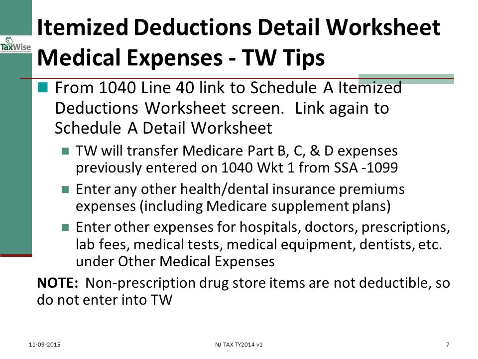 Itemized Deductions NJ Property Tax Deduction Credit Pub 4012 – Tax and Interest Deduction Worksheet