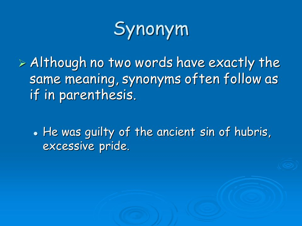 definition  there are five methods one can use to create a  3 synonym  although
