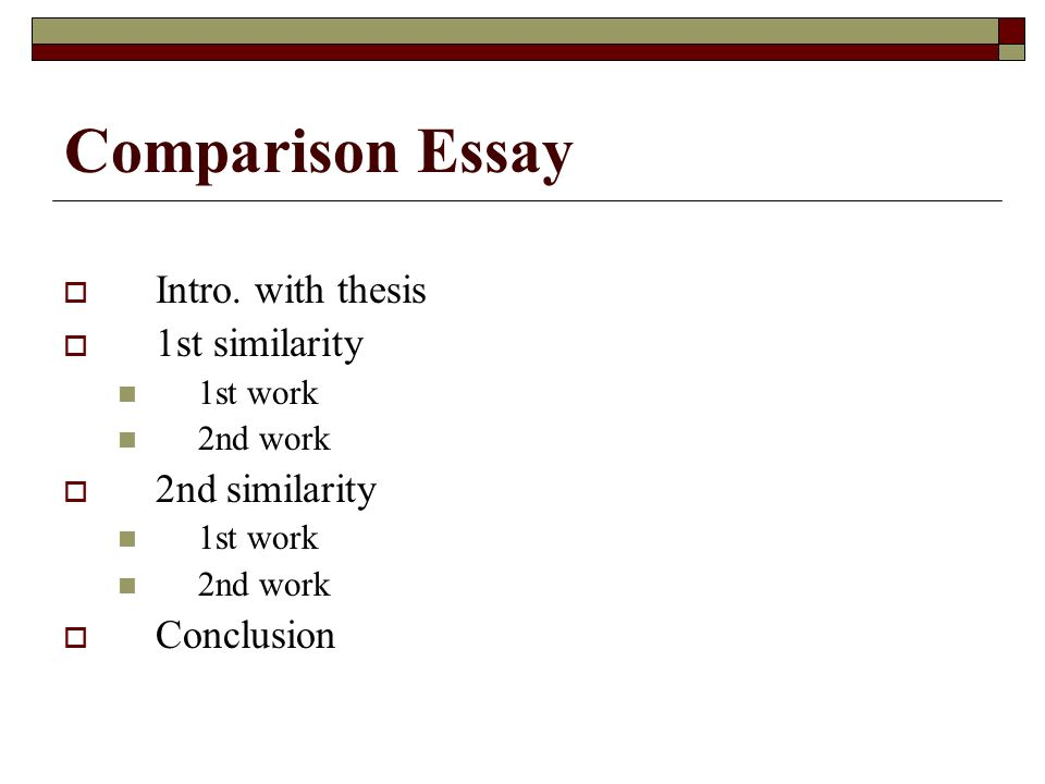 intro to comparison essay The introduction should be designed to attract the reader's attention and give her an idea of the essay's focus begin with an attention grabber the attention grabber you use is up to you, but here are some ideas: startling information this information must be true and verifiable, and it doesn't.