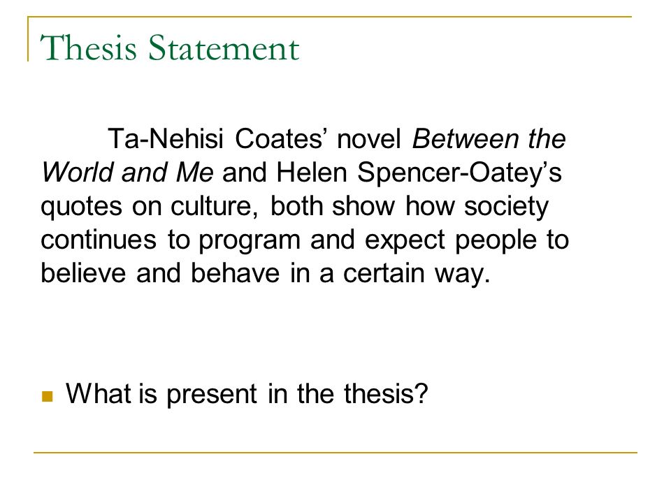 thesis essays on books The answer is easy pat wrote a thesis, not a book but it gets between you and the book you would like to be writing the not-yet-a-book.