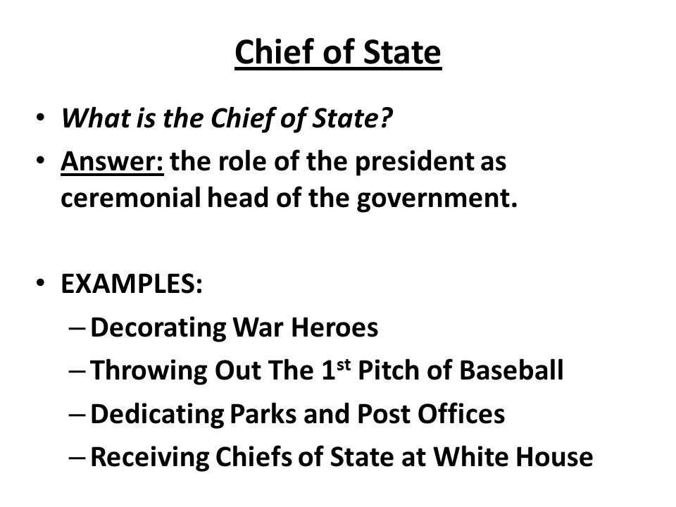Chief Of State President Role 49424 Trendnet