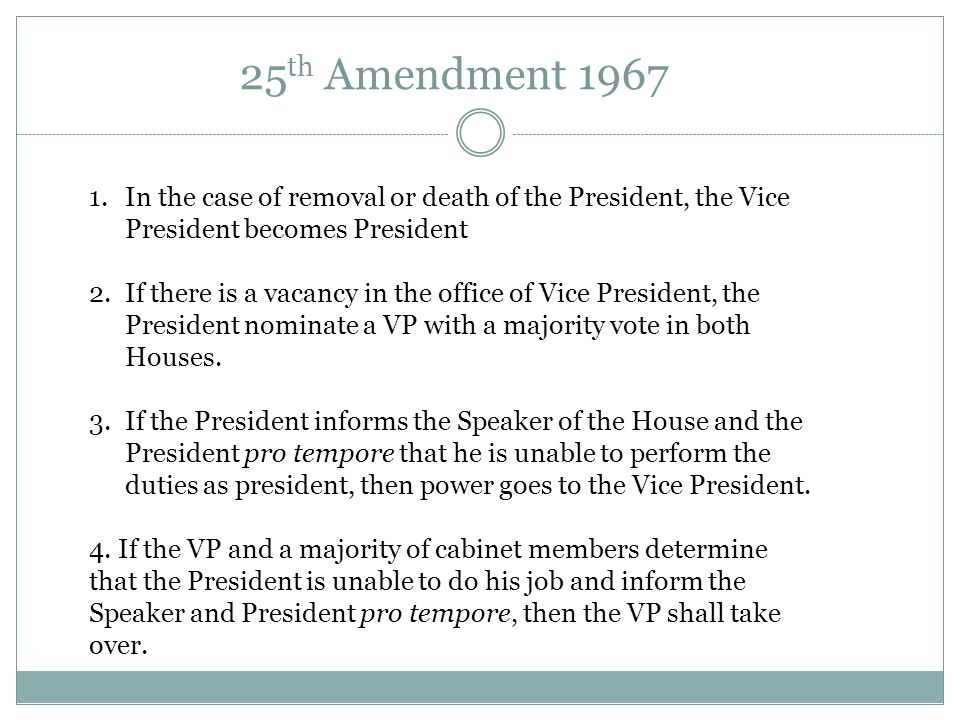 AND THE VICE PRESIDENT Presidential Succession. - ppt download