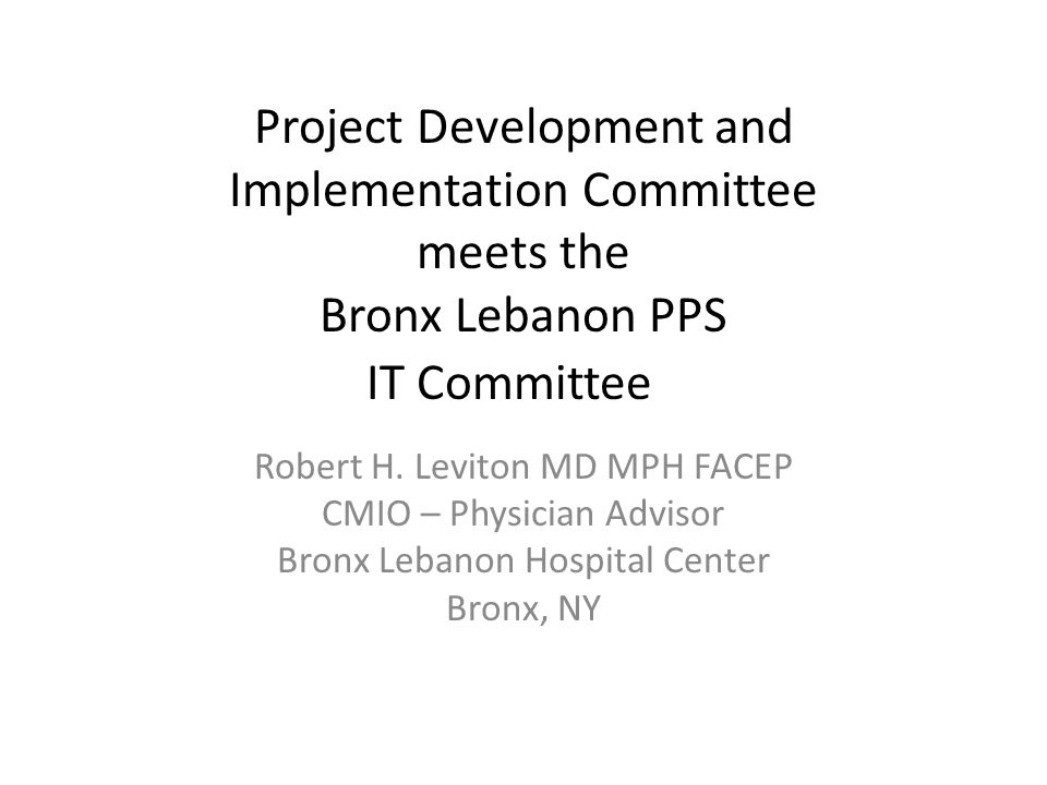 Project Development and Implementation Committee meets the Bronx ...