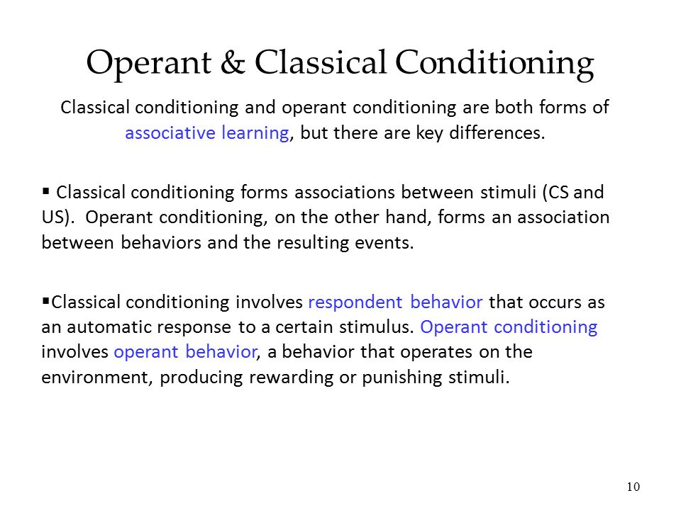 the classical and operant conditioning ways of learning Operant conditioning essay examples the classical and operant conditioning ways of learning learning: classical and operant conditioning.