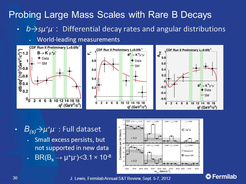 Probing Large Mass Scales with Rare B Decays b →sμ + μ - : Differential decay rates and angular distributions  World-leading measurements J.