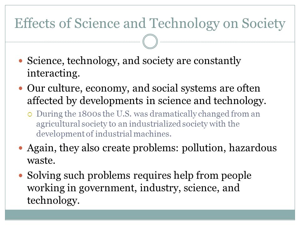 technologys effect on the society of
