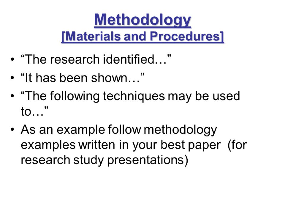methodology examples in research Research paper methodology example – make sure you follow a good one a research paper will never be complete without methodology part in this section you have to describe methods you have used during the research.