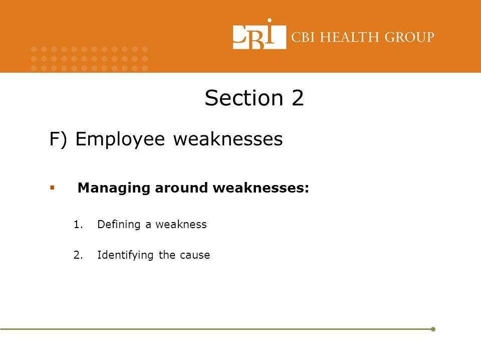 employee weakness