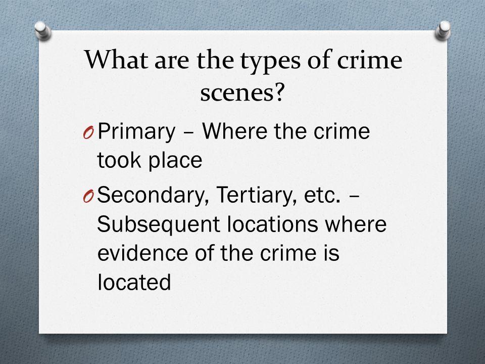 How to describe a crime scene?