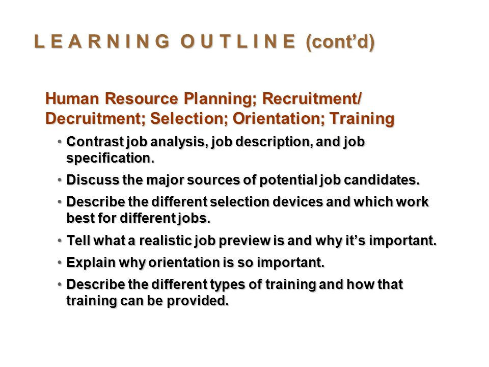 Management: Human Resource Management