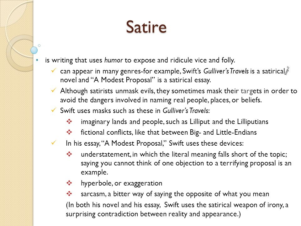 example of satire essay proposal essays examples of satirical  7 satire example of satire essay