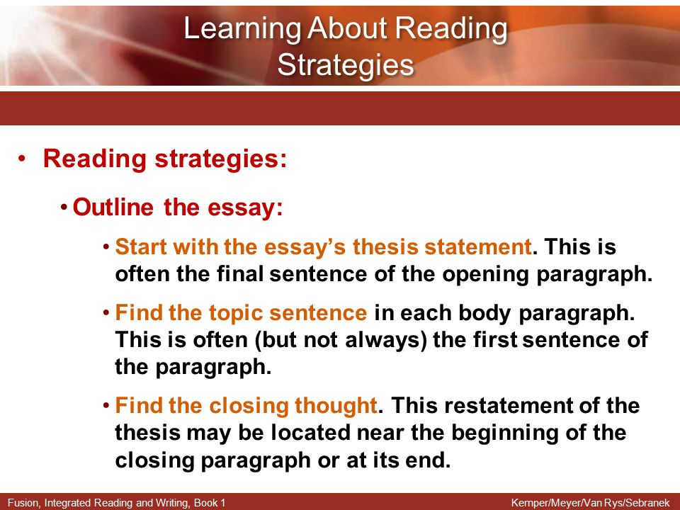 Essay Of Reading Books