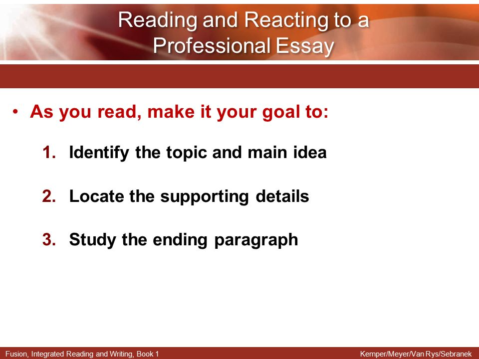 reading skill essay The importance of teaching academic reading skills in first-year university courses julian hermida academic reading skills and academic success.