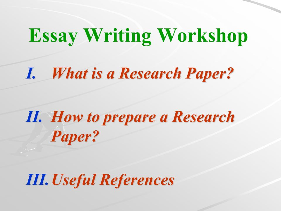 Whats a good short essay question having to do with preparing/ writing a research paper?