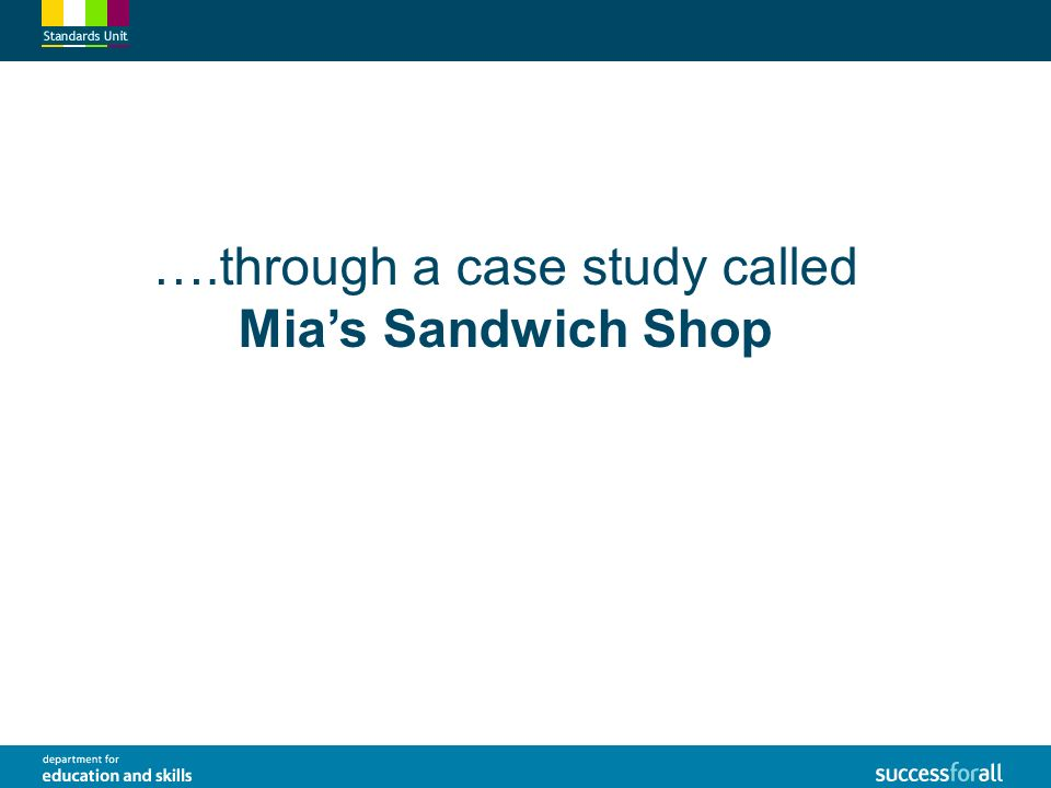 sandwich shop case study