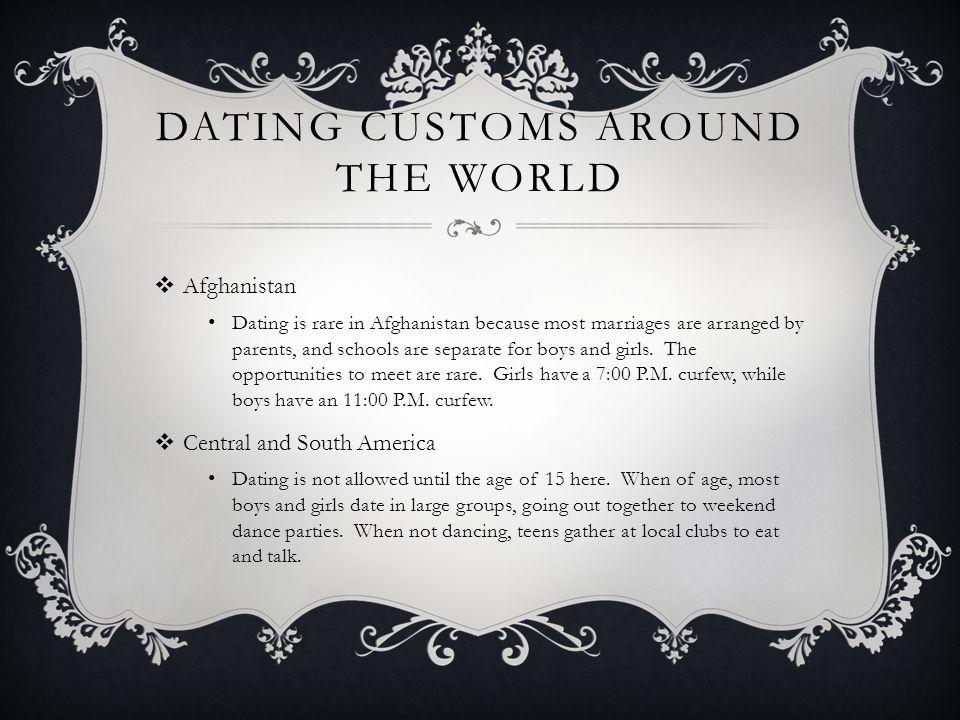 Dating custom around the world