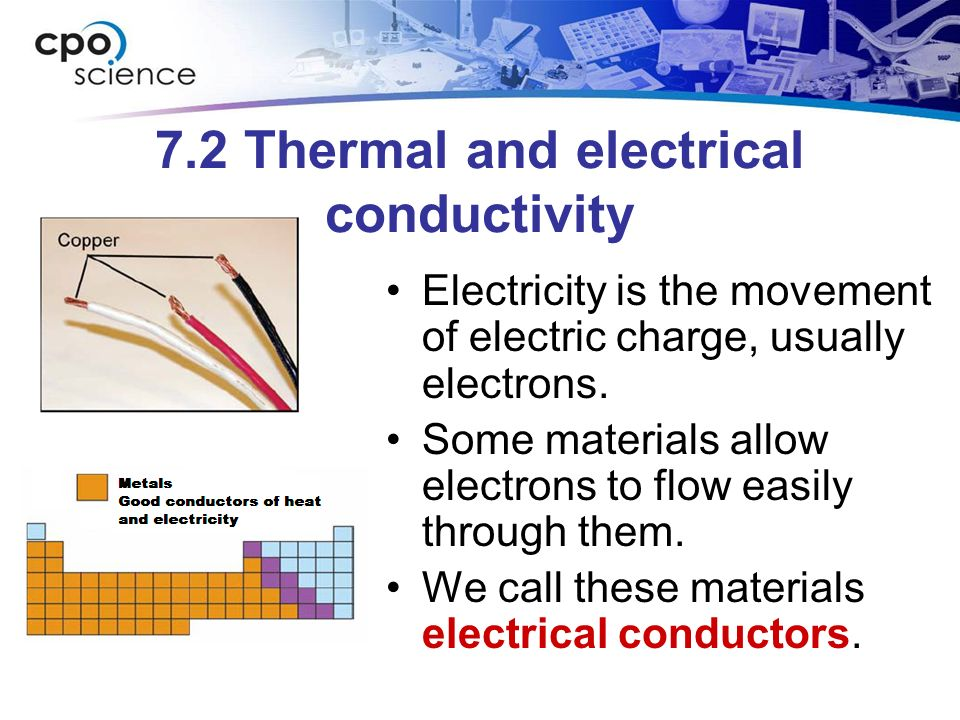 a good conductor of electricity and heat engineering essay Actually copper is a better electric conductor than gold it is a common misconception that gold is better it probably comes from the fact that gold is the best heat conductor, and that good heat conductors also tend to be good electric conductors.
