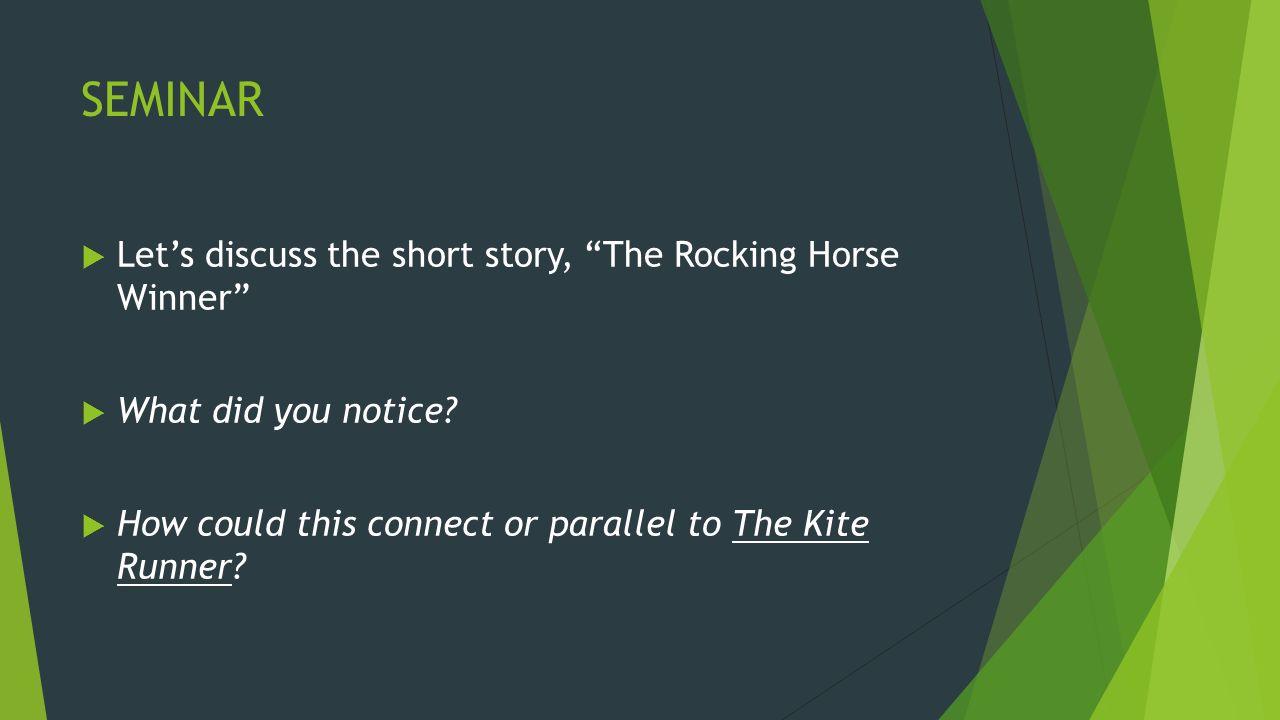 short story essay the rocking horse