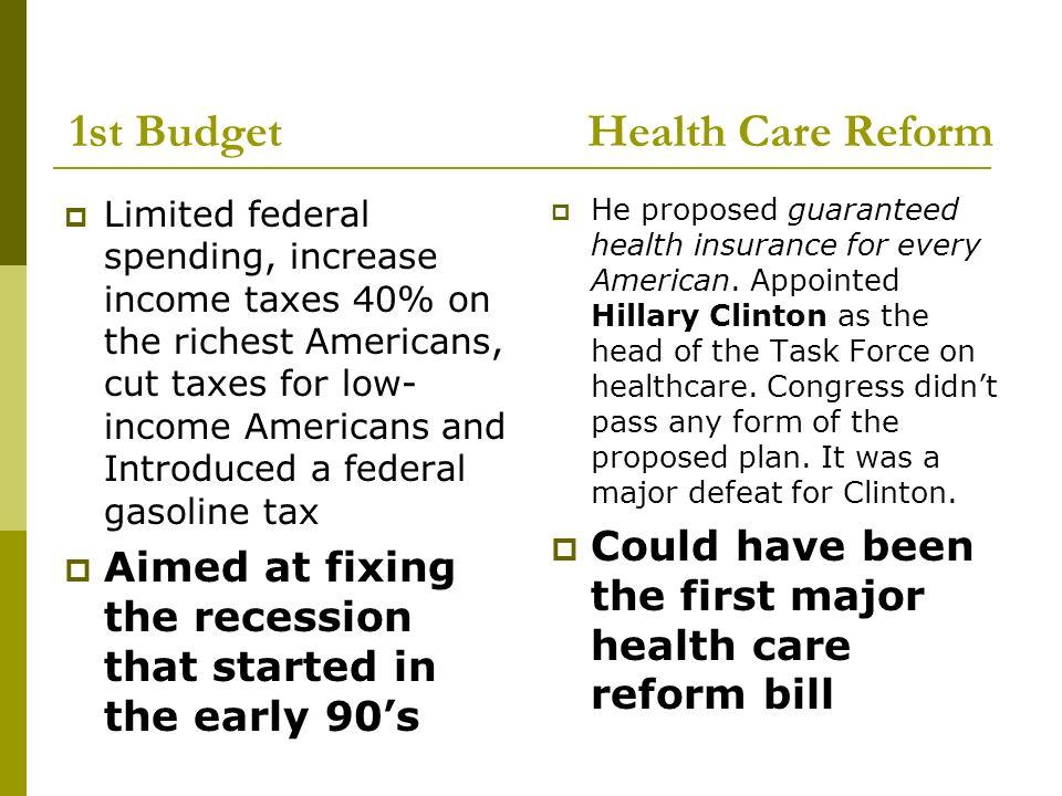 bill clinton health care reform