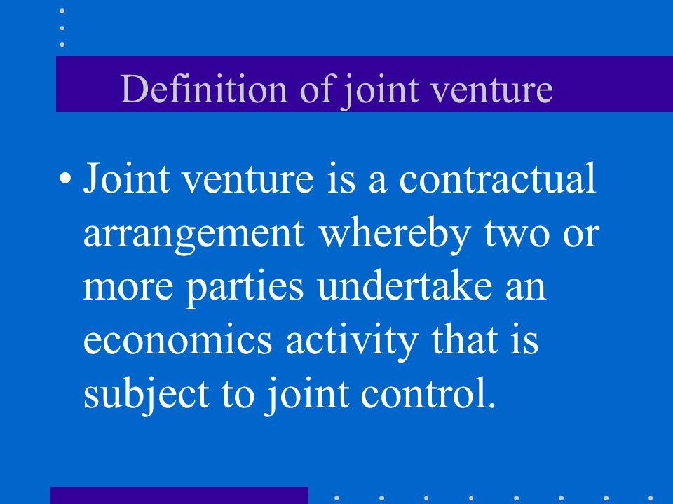 definition joint venture