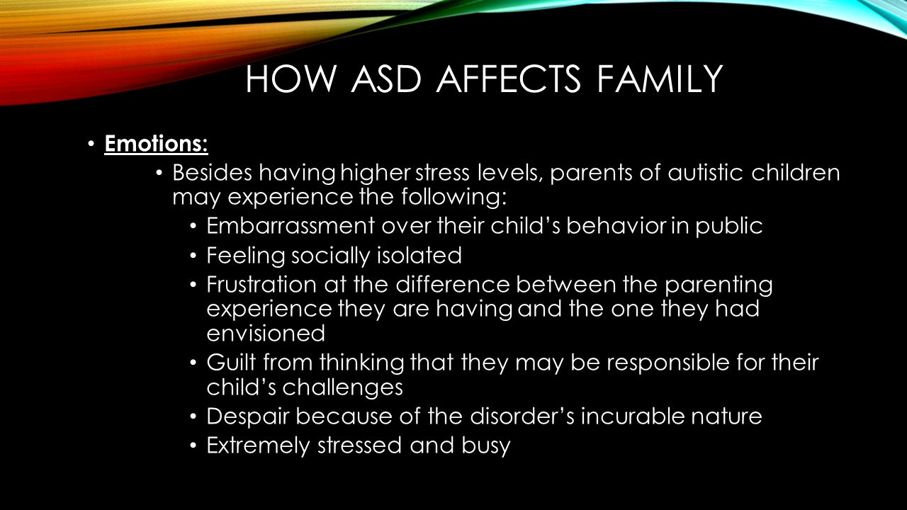 autism spectrum disorder asd and its effects on the learning development of children 10 signs and symptoms of autism it's a very complex disorder that effects the and there are a few types of autism categorized on the spectrum.
