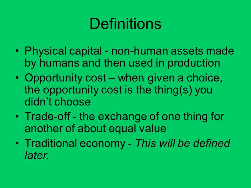 economic term capital goods