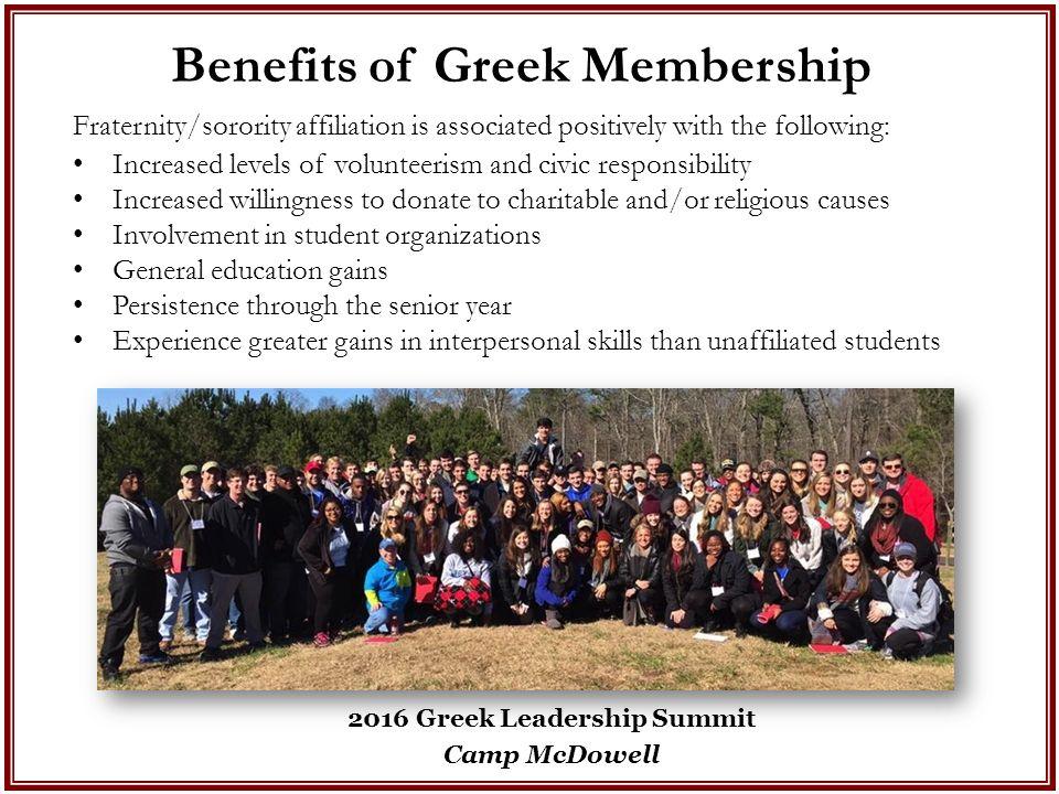fraternity involvement