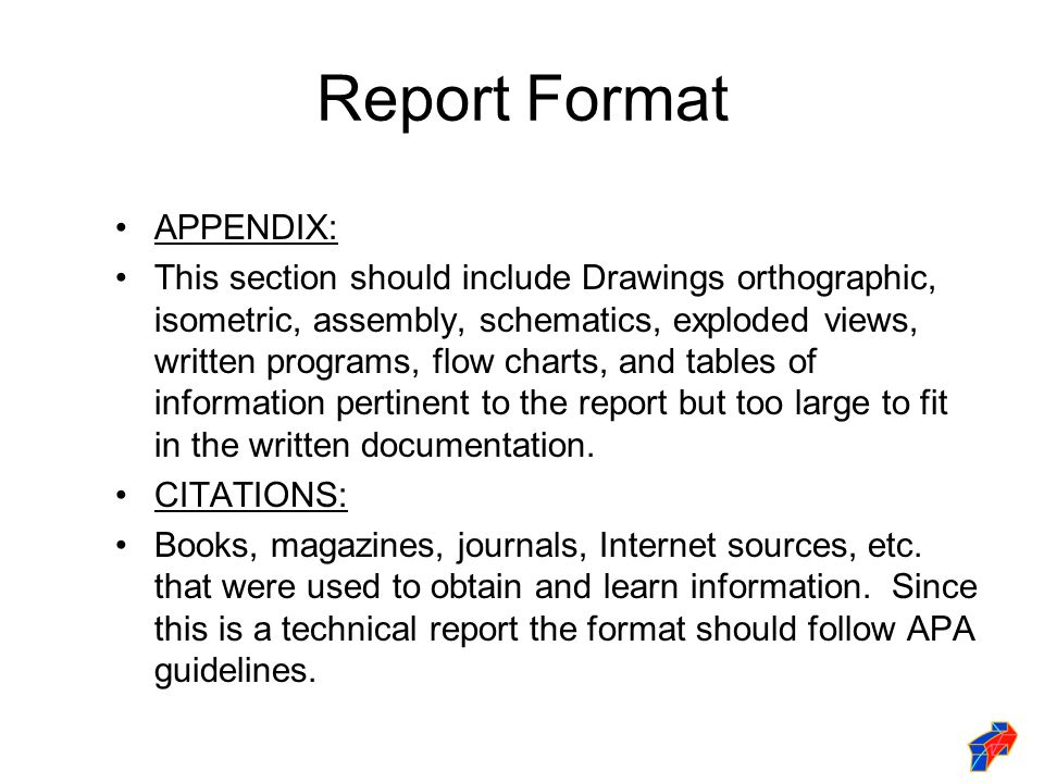 technical report format Online technical writing: report format and final production in this chapter, as with others in this course, you'll do several things as once first, you'll explore.