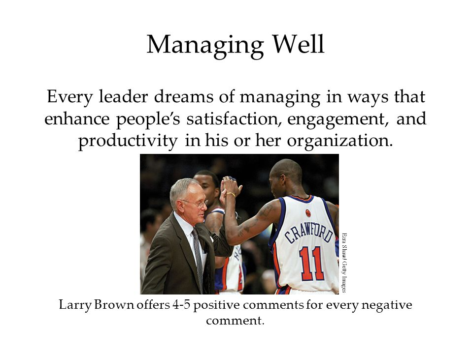 Managing Well Every leader dreams of managing in ways that enhance people's satisfaction, engagement, and productivity in his or her organization.